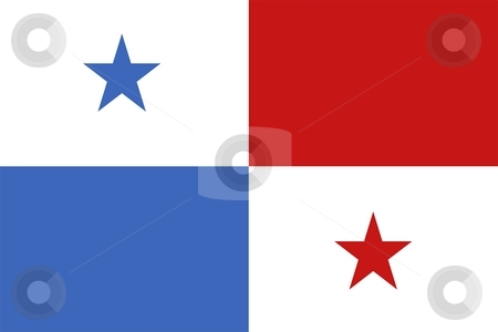 Flag Of Panama stock photo, 2D illustration of the flag of Panama by Tudor Antonel adrian