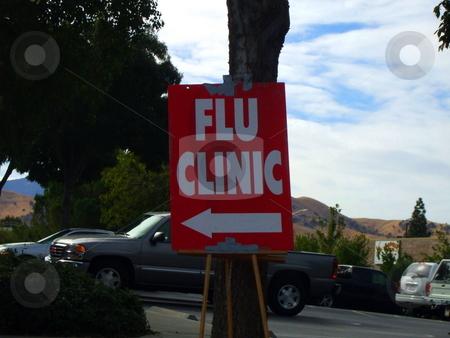 Flu Clinic Sign stock photo,  by Michael Felix