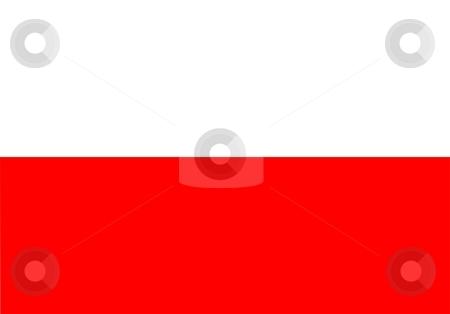Flag Of Poland stock photo, 2D illustration of the flag of Poland by Tudor Antonel adrian