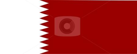 Qatar Flag stock photo, 2D illustration of the flag of Qatar vector by Tudor Antonel adrian