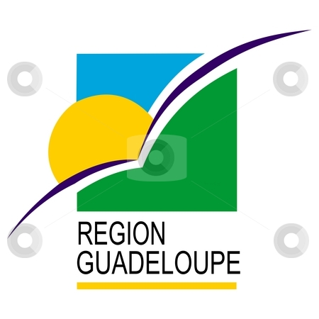 Flag Of Region Guadeloupe stock photo, 2D illustration of the flag of Region Guadeloupe by Tudor Antonel adrian
