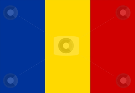 Flag Of Romania stock photo, 2D illustration of the flag of Romania by Tudor Antonel adrian