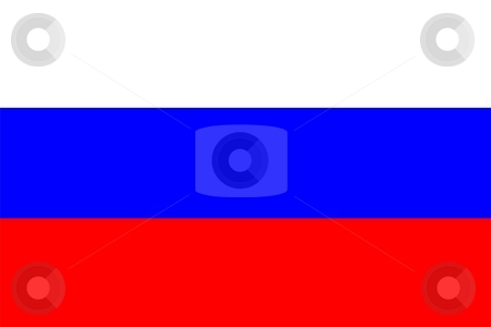 Flag Of Russia stock photo, 2D illustration of the flag of Russia by Tudor Antonel adrian