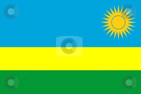 Flag Of Rwanda stock photo, 2D illustration of the flag of Rwanda by Tudor Antonel adrian