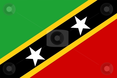 Flag Of Saint Kitts And Nevis stock photo, 2D illustration of the flag of Saint Kitts And Nevis by Tudor Antonel adrian