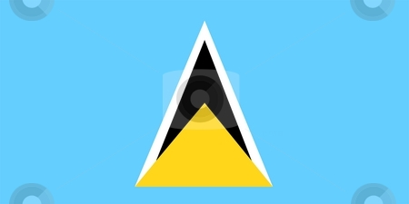 Flag Of Saint Lucia stock photo, 2D illustration of the flag of Saint Lucia by Tudor Antonel adrian