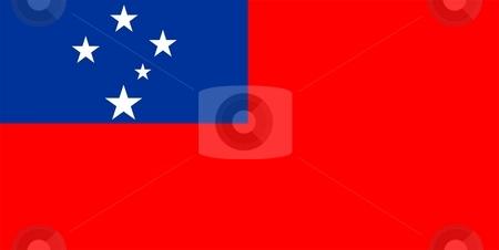 Flag Of Samoa stock photo, 2D illustration of the flag of Samoa by Tudor Antonel adrian