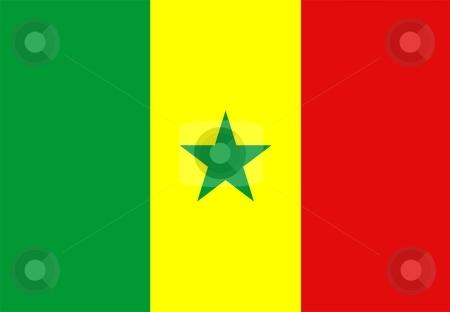 Flag Of Senegal stock photo, 2D illustration of the flag of Senegal by Tudor Antonel adrian