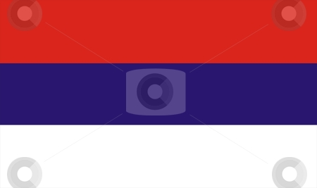 Flag Of Serbia stock photo, 2D illustration of the flag of Serbia by Tudor Antonel adrian