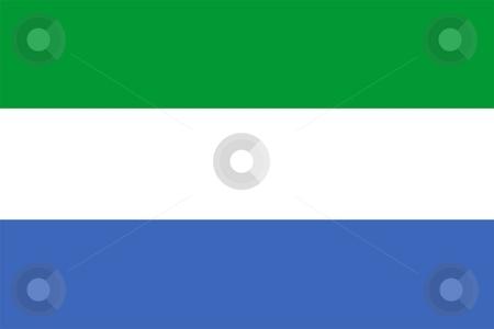 Flag Of Sierra Leone stock photo, 2D illustration of the flag of Sierra Leone by Tudor Antonel adrian