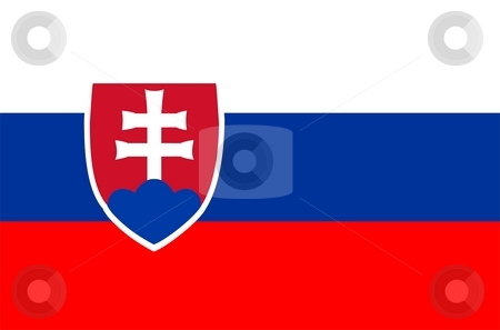Slovakia Flag stock photo, 2D illustration of the flag of Slovakia vector by Tudor Antonel adrian