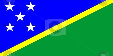 Flag Of Solomon Islands  stock photo, 2D illustration of the flag of Solomon Islands by Tudor Antonel adrian