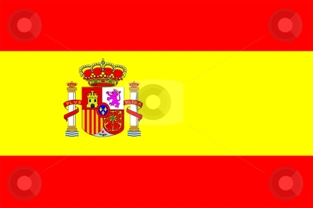 Flag Of Spain stock photo, 2D illustration of the flag of Spain by Tudor Antonel adrian