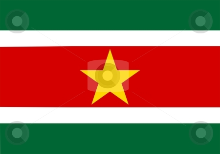 Flag Of Suriname stock photo, 2D illustration of the flag of Suriname by Tudor Antonel adrian