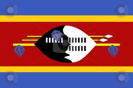 Swaziland Flag stock photo, 2D illustration of the flag of Swaziland vector by Tudor Antonel adrian