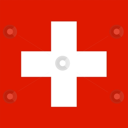 Flag Of Switzerland stock photo, 2D illustration of the flag of Switzerland by Tudor Antonel adrian