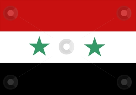 Flag Of Syria stock photo, 2D illustration of the flag of Syria by Tudor Antonel adrian