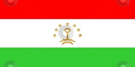 Flag Of Tajikistan stock photo, 2D illustration of the flag of Tajikistan by Tudor Antonel adrian