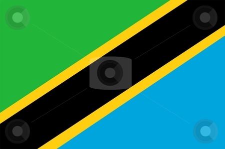 Flag Of Tanzania stock photo, 2D illustration of the flag of Tanzania by Tudor Antonel adrian