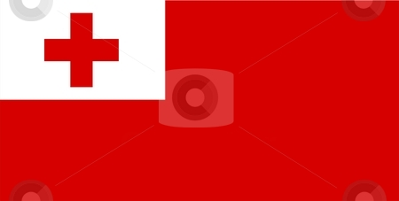 Tonga Flag stock photo, 2D illustration of the flag of Tonga vector by Tudor Antonel adrian