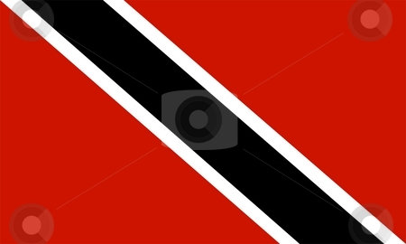 Flag Of Trinidad And Tobago  stock photo, 2D illustration of the flag of Trinidad And Tobago by Tudor Antonel adrian