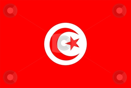 Flag Of Tunisia stock photo, 2D illustration of the flag of Tunisia by Tudor Antonel adrian