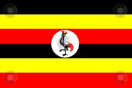 Flag Of Uganda stock photo, 2D illustration of the flag of Uganda by Tudor Antonel adrian