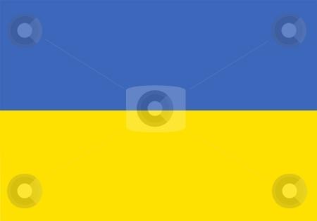 Flag Of Ukraine stock photo, 2D illustration of the flag of Ukraine by Tudor Antonel adrian