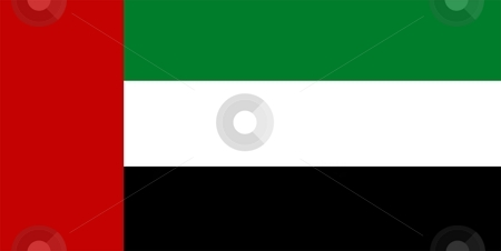Flag Of United Arab Emirates stock photo, 2D illustration of the flag of United Arab Emirates by Tudor Antonel adrian