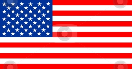 Flag Of United States of America stock photo, 2D illustration of the flag of United States of America by Tudor Antonel adrian