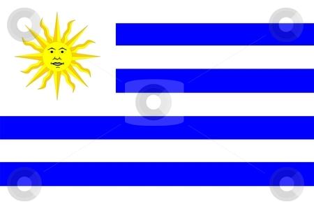 Flag Of Uruguay stock photo, 2D illustration of the flag of Uruguay by Tudor Antonel adrian