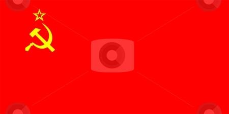 Flag Of Ussr Soviet Republic stock photo, 2D illustration of the flag of Ussr soviet republic by Tudor Antonel adrian