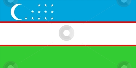 Flag Of Uzbekistan stock photo, 2D illustration of the flag of Uzbekistan by Tudor Antonel adrian