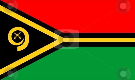 Flag Of Vanuatu stock photo, 2D illustration of the flag of Vanuatu by Tudor Antonel adrian