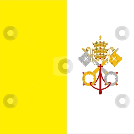Flag Of Vatican stock photo, 2D illustration of the flag of Vatican by Tudor Antonel adrian