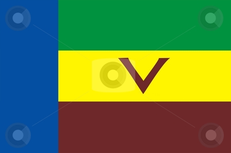 Flag Of Venda stock photo, 2D illustration of the flag of Venda by Tudor Antonel adrian