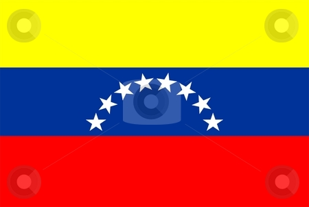 Venezuela Flag stock photo, 2D illustration of the flag of Venezuela vector by Tudor Antonel adrian