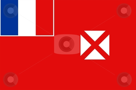 Wallis And Futuna Flag stock photo, 2D illustration of the flag of Wallis And Futuna vector by Tudor Antonel adrian