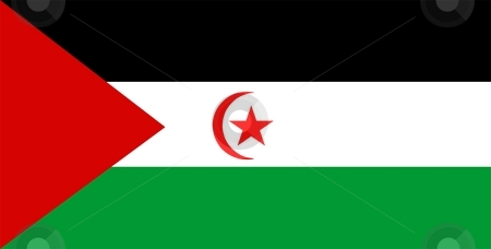 Flag Of Western Sahara  stock photo, 2D illustration of the flag of Western Sahara by Tudor Antonel adrian