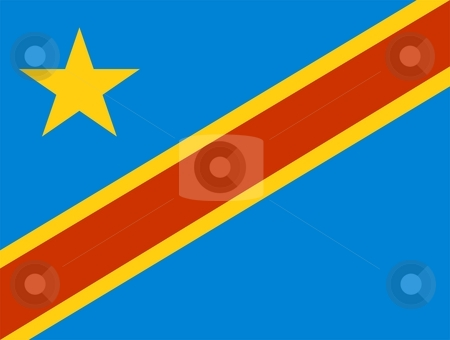 Flag Of Zaire stock photo, 2D illustration of the flag of Zaire by Tudor Antonel adrian