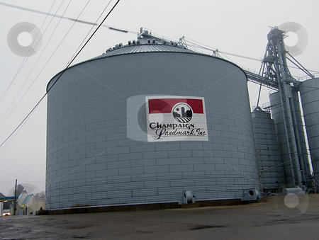 Grain Silo stock photo, Grain Silo, Champaign Landmark, Inc. is member owned. Founded in 1934 to serve agricultural farm/feed needs of Champaign County (Urbana Ohio) farmers. by Dazz Lee Photography
