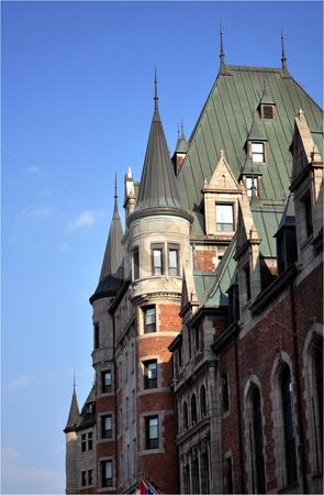 Chateau Frontenac stock photo, Quebec City most famous landmark by Fernando Barozza