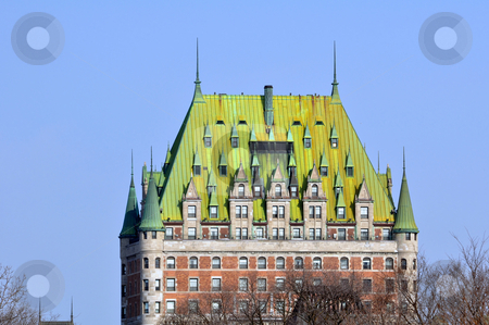 Chateau Frontenac stock photo, Quebec City most famous landmark by Fernando Barozza