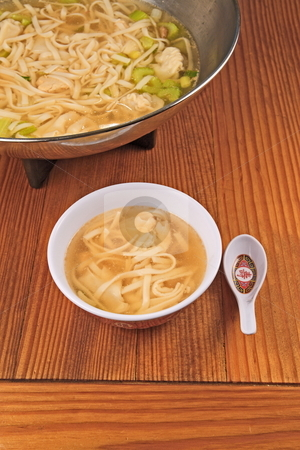 Wonton Soup stock photo, Chinese wonton soup for dinner by Jack Schiffer
