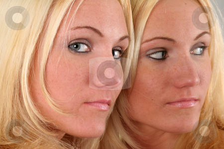Just the Two of Us stock photo, Model in a Mirror by Gregg Cerenzio