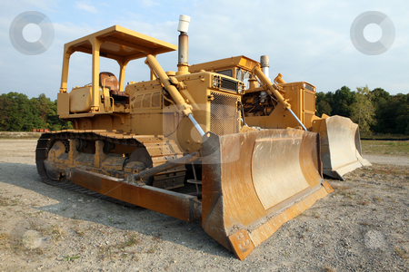 Bulldozers! stock photo, Two Bulldozers! by Gregg Cerenzio
