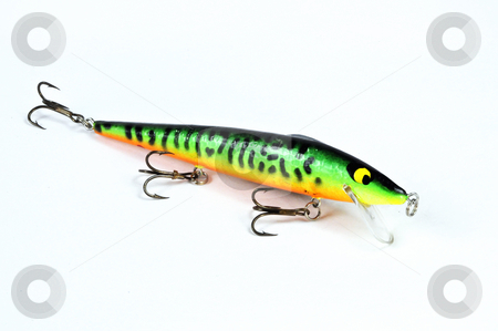 Fishing Lure_4 stock photo, Fishing lure on a white background. by W. Paul Thomas
