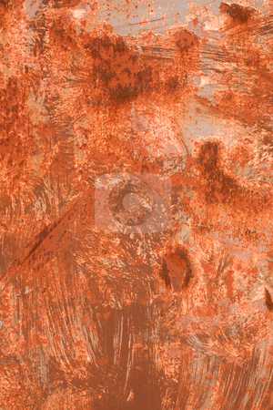 Orange colors rusty metal texture background. stock photo, Orange colors rusty metal texture background. by Stephen Rees