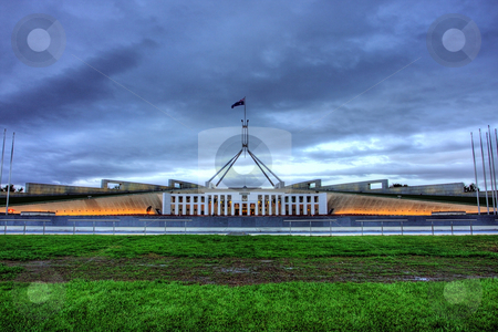 Parliament House stock photo, Australian Parliament House for the Federal Government in Canberra by Christopher Meder
