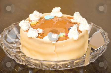Delicious layer cake with marcipan  stock photo, Delicious layer cake   with marcipan by Phillip Dyhr Hobbs